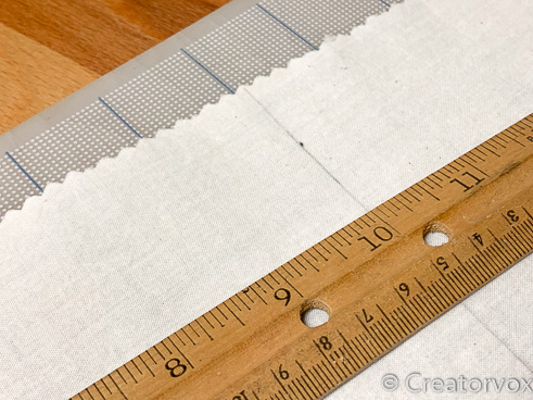 measure cotton muslin for beeswax wraps