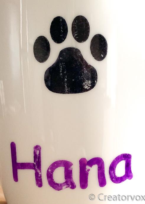 sharpie marker stencil paint on ceramic after washing