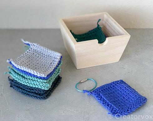 stash busting reusable makeup wipes pattern blues greens gray