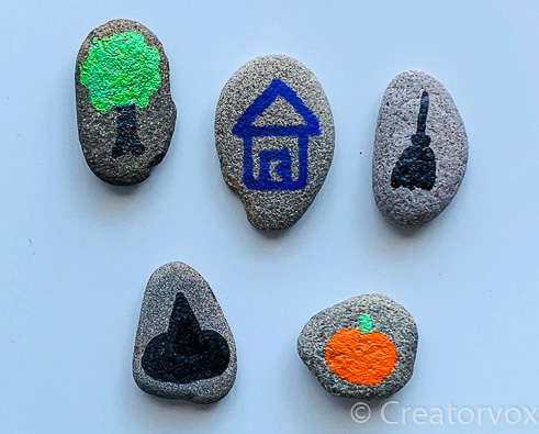 Halloween theme story stones