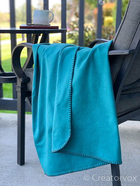 eco friendly blanket for indoors or out