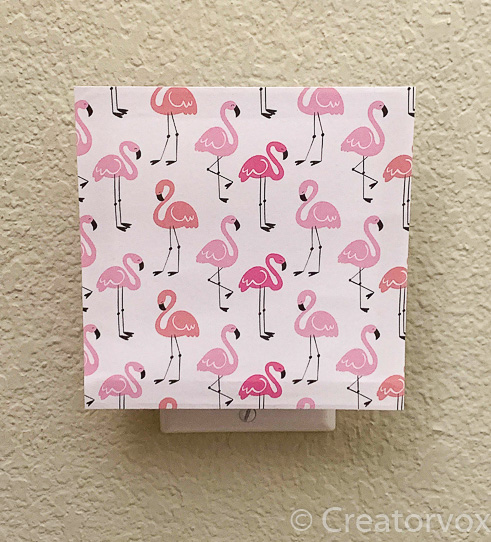 flamingo DIY nightlight