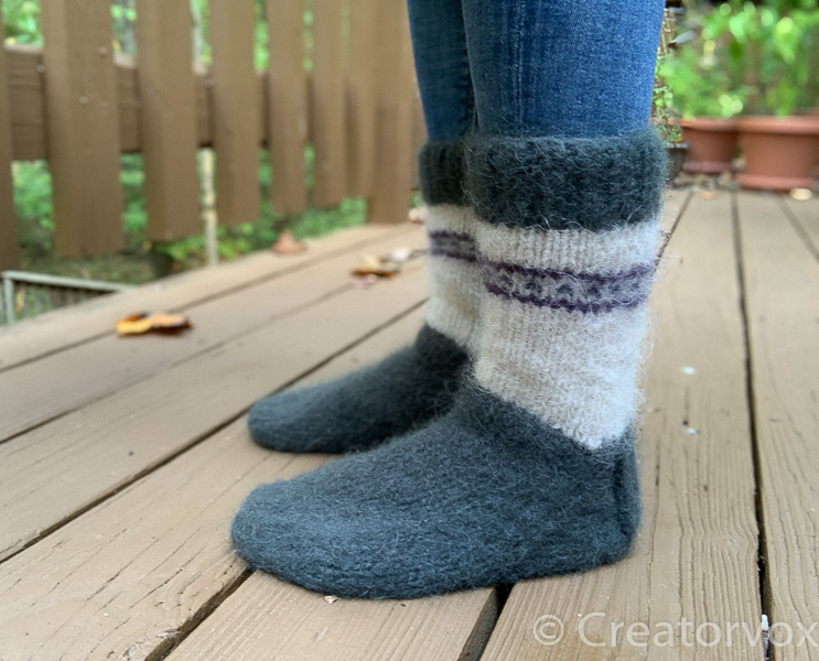 felted mukluk slippers
