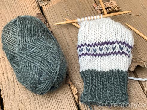 patterned mukluk slipper cuff