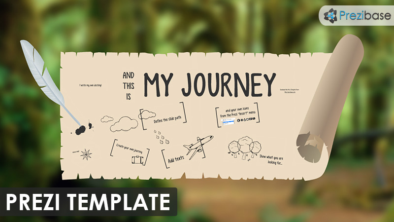 My Journey  Prezi Presentation Template   Creatoz