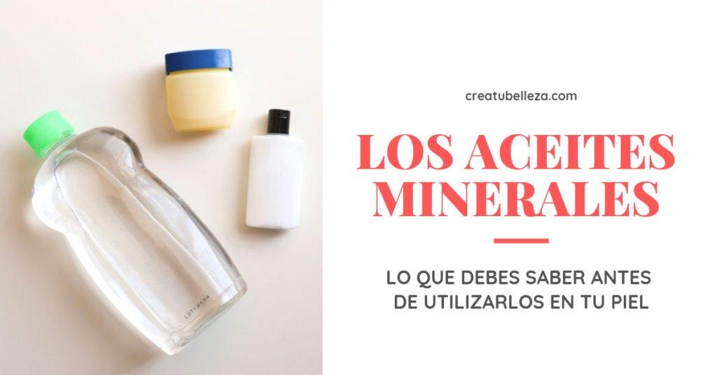 Aceites minerales para la piel