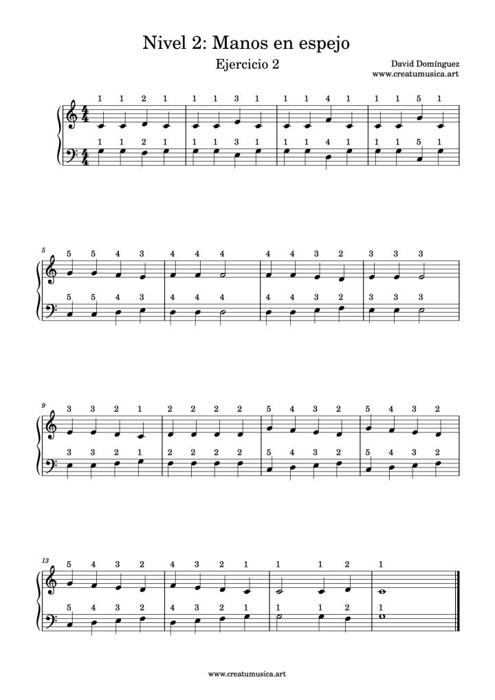 Ejercicio 2 Nivel 2 Piano