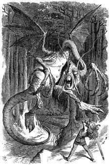 682px-Jabberwocky Tenniel 1871 Throught the Looking Glass
