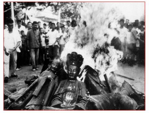 burning buddha x