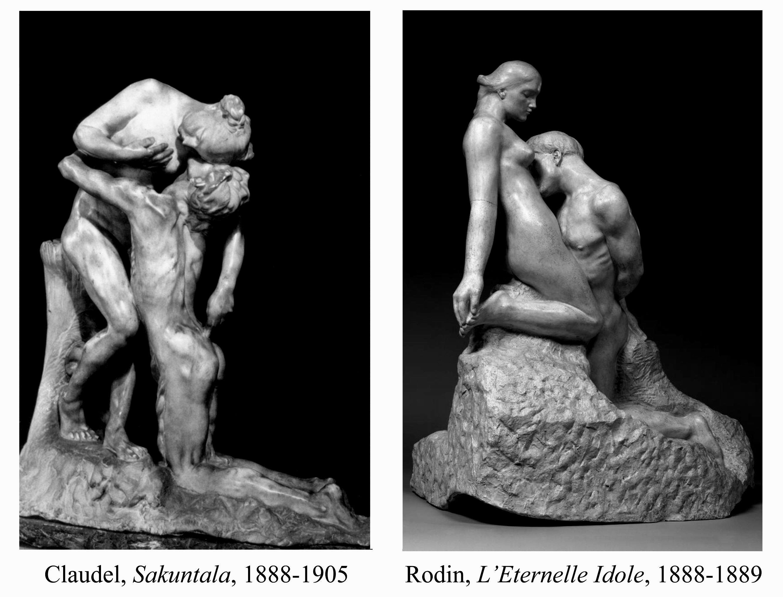 Details about ETERNAL IDOL by RODIN LOVERS STATUE BONDED