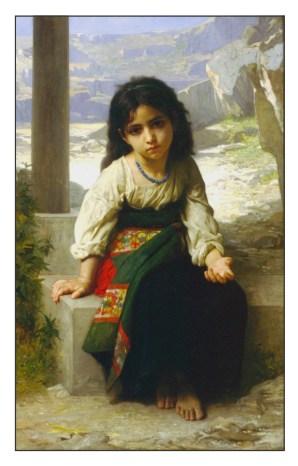bouguereau jeune mendiante