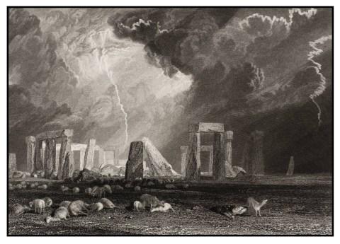 turner stonehenge engraved robert wallis 1829 xb