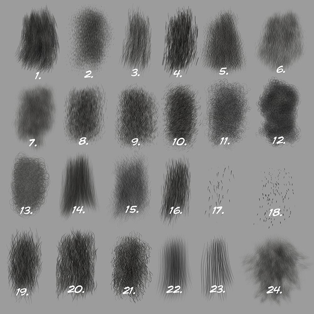 Set 5 (Directional Fur Brushes