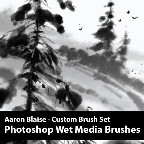 Photoshop Wet Media Brushes