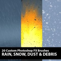 Rain Snow Dust Debris Photoshop Brushes