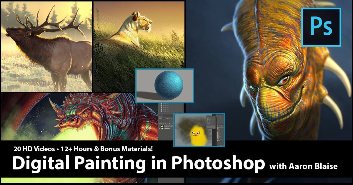 Digital Painting in Photoshop with Aaron Blaise | Photoshop Tutorial