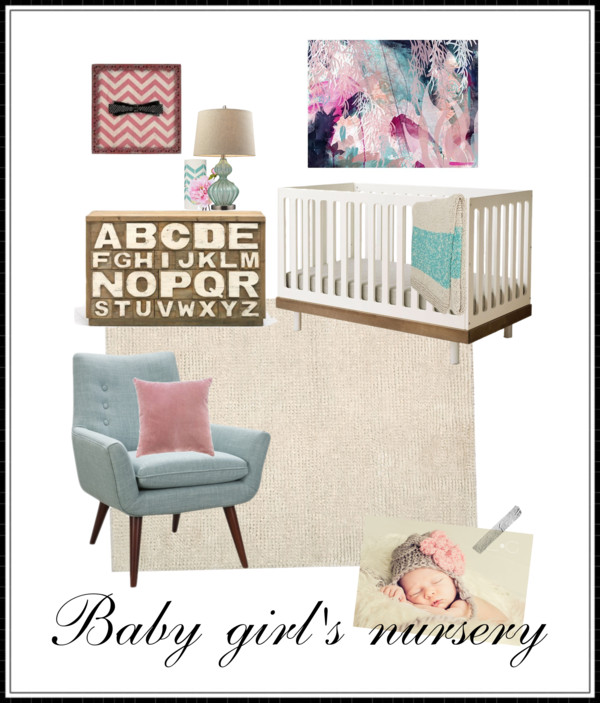 Girl's Nursery Design – Pink and Blue
