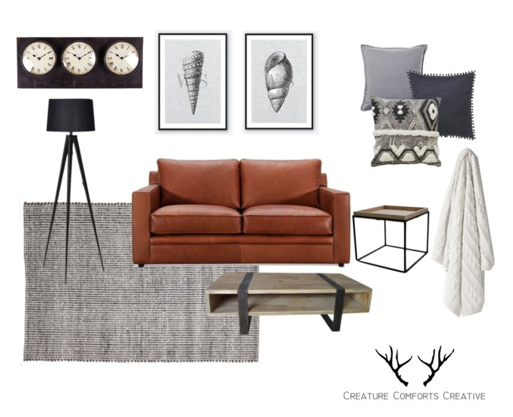 Wall Style - Contemporary Industrial Living Room