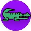 American crocodile point icon