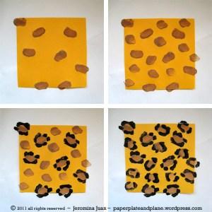 leopard pront potato craft