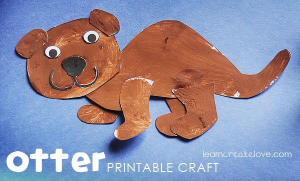 Otter printable craft