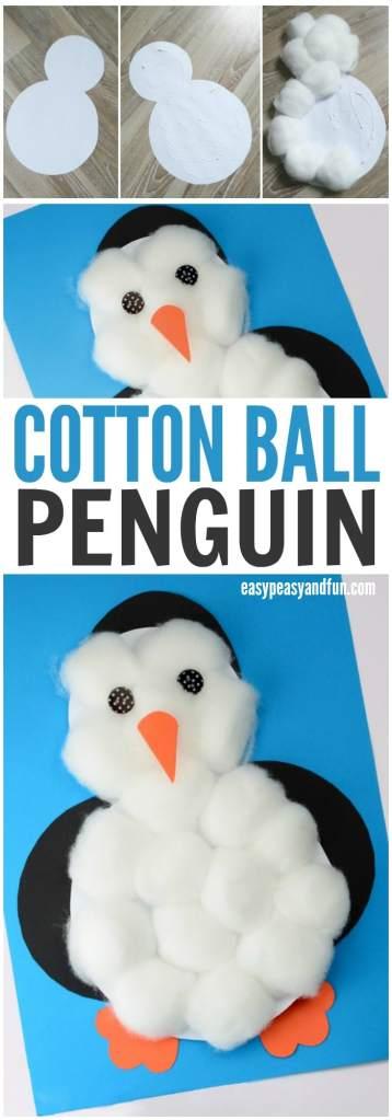 Cotton Ball Penguin