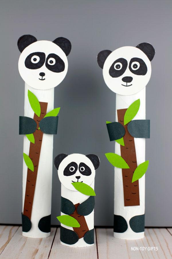 panda paper towel craft