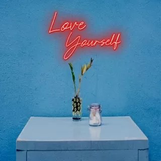 Love yourself neon