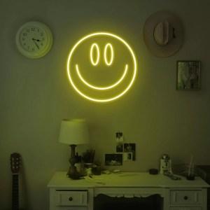 Neon carita sonriente