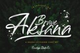 Last preview image of Aksana Brush Script