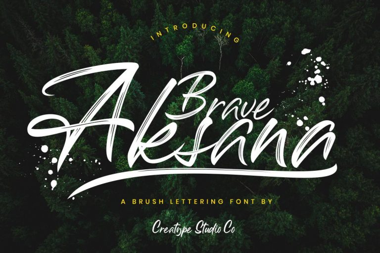 Preview image of Aksana Brush Script