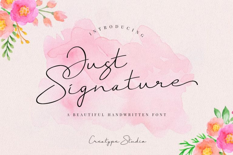 Preview image of Just Signature Script