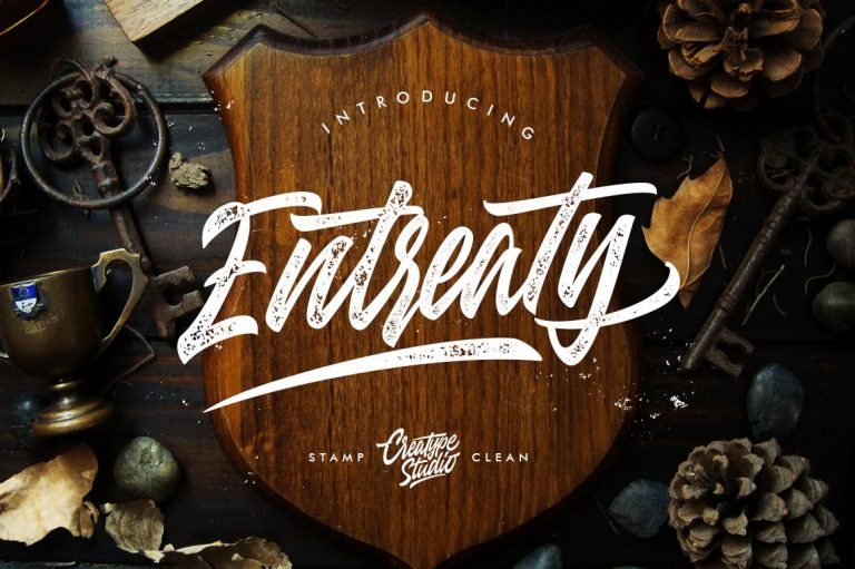 Preview image of Entreaty Handlettering Script