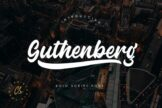 Last preview image of Guthenberg Bold Script