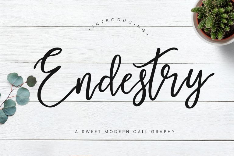 Preview image of Endestry Modern Calligraphy