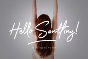 Hello Santtiny Brush Script