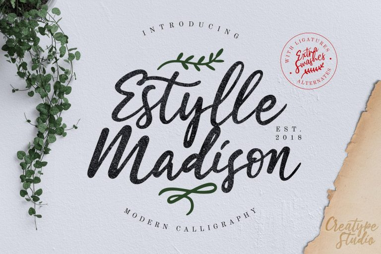 Preview image of Estylle Madison Calligraphy