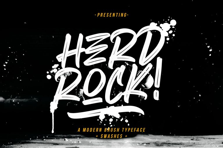 Preview image of Herdrock Brush Typeface
