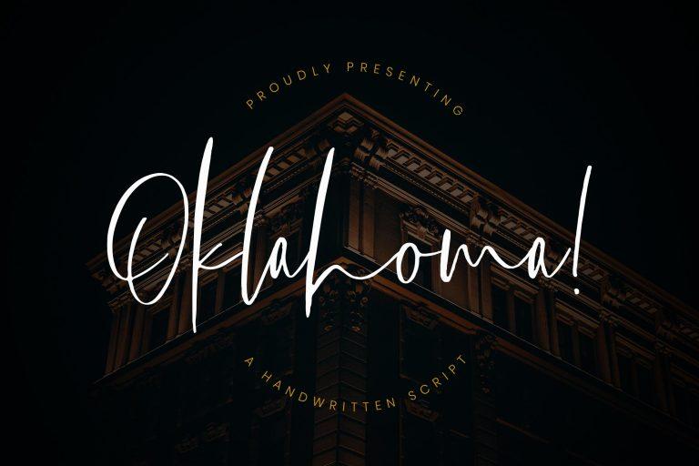 Preview image of Oklahoma Handwritten Script