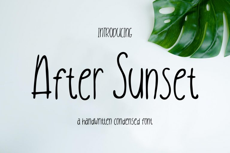 Preview image of After Sunset Handwritten Condensed