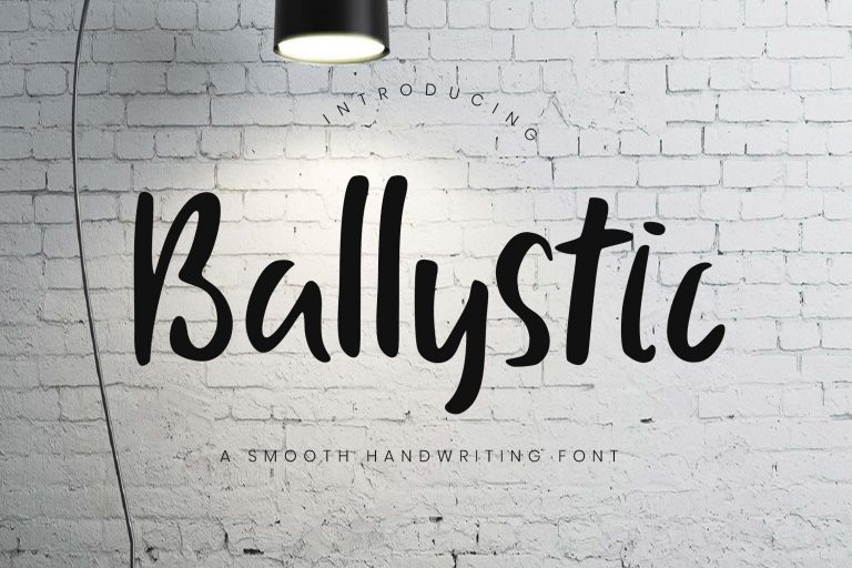 Preview image of Ballystic Handwriting Typeface