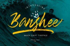 Banshee Brush Script