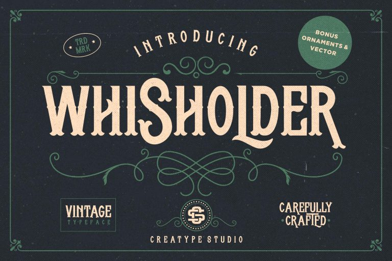 Preview image of Whisholder Vintage Retro Typeface