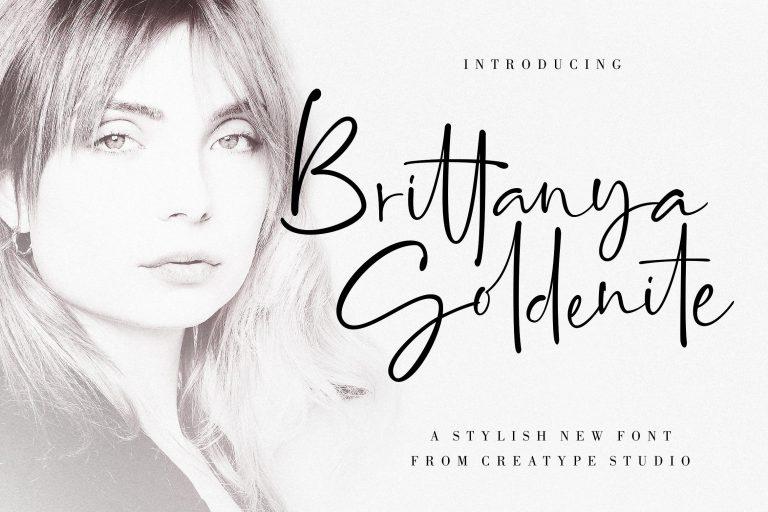 Preview image of Brittanya Goldenite Stylish Handwritten