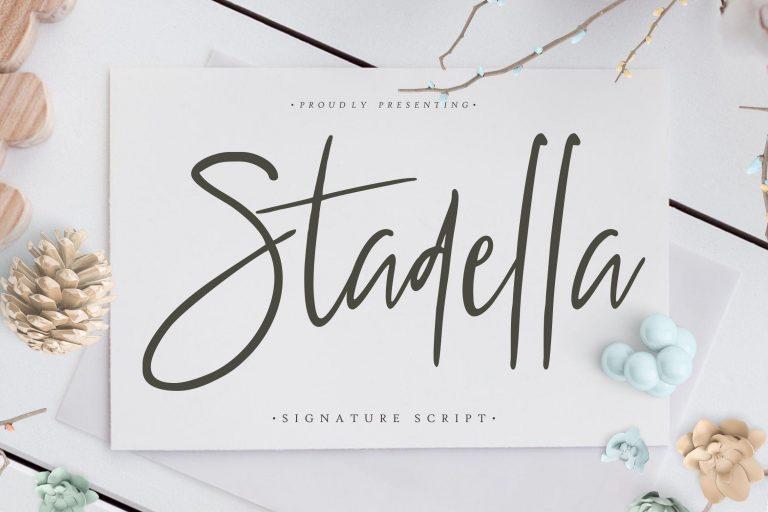 Preview image of Stadella Signature Script