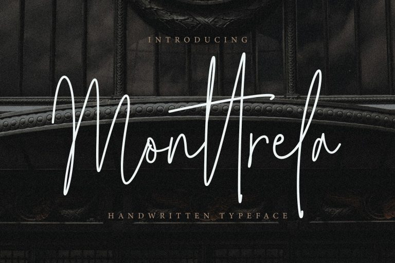 Preview image of Monttrela Handwritten Font