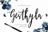 Last preview image of Gesthyla Calligraphy Modern