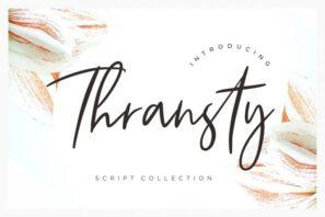 Thransty Handwritten Script