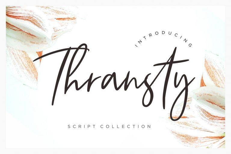 Preview image of Thransty Handwritten Script