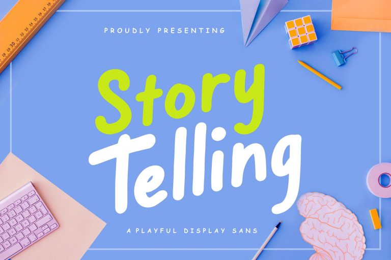 Preview image of Story Telling Fun Font